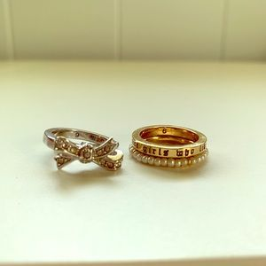 3 Juicy Couture Stackable Rings